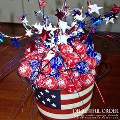 use a mason jar.....Delightful Order: 4th of July Party Ideas