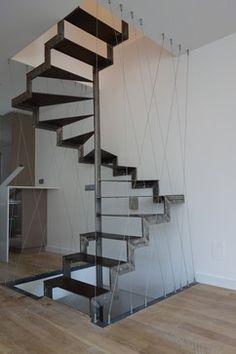 Aggrandisement et renovation d'une maison de ville - 140m2 industrial-treppenhaus