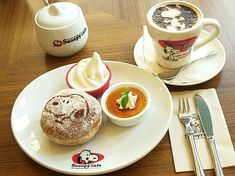 snoopy donut and latte!