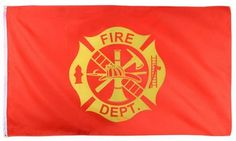 3' x 5' Fire Department Logo Flag - ArmyNavyShop.com