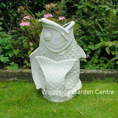 Enigma Koi Fish Planter Resin Marble Garden Ornament | Woodside Garden Centre | Pots to Inspire