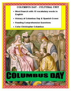 """This cultural lesson on """" Columbus and the Spanish Crown"""" is the perfect activity to celebrate Columbus Day in your classroom."""
