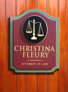 law office decor ideas. this is a distinguished professional office sign which includes hand carved and gilded scales of justice together with incise letters law decor ideas