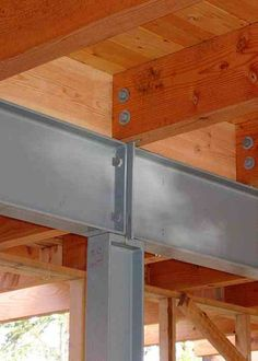 supporting steel beam with connections