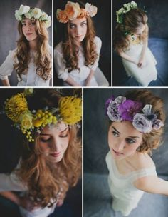 Flower Crowns: A Beautiful & Bohemian Bridal Hair Trend
