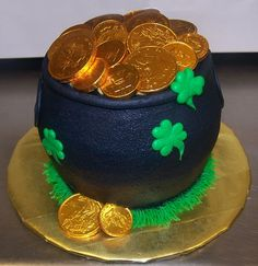 Saint Patrick's Day Pot Of Gold Cake