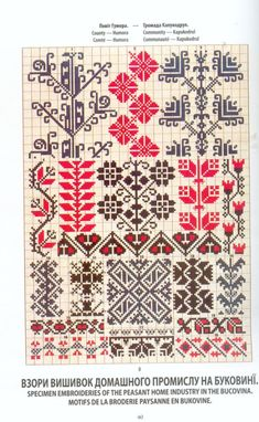 Folk Embroidery, Vintage Embroidery, Cross Stitch Embroidery, Embroidery Patterns, Cross Stitch Borders, Cross Stitch Charts, Cross Stitching, Cross Stitch Patterns, Diy Broderie
