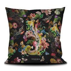 Voglio Bene Art - Kissenbezug / Kissen 50x50cm FLEURS DE ROCAILLE Montpellier, Pillow Cases, Throw Pillows, Tote Bag, Vintage, Cushions, Prints, Art, Flowers
