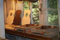 Making guitars Guitar Riffs, Guitar Diy, Acoustic Guitar, Guitar Building, Classical Guitar, Garage Workshop, Music Stuff, Cape Cod, Wood Working