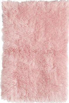 Pink Fluffy Rug Home Decor