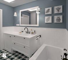 Mała łazienka w bieli i indygo - zdjęcie od CHATANOWA