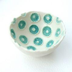 jellyfish? | porcelan and stoneware glaze | Lisa Stevens | Flickr