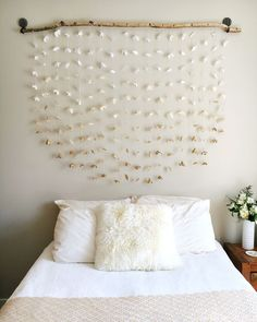 Creative  Room decor. DIY headboard...