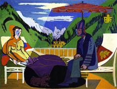 Cena na varanda, 1935 Ernst Ludwig Kirchner (Alemanha 1880 — Suiça, 1938) óleo sobre tela, 136 x 178 cm Museu Kirchner, Davos