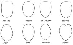 The knowledge of your face shape will help you determine what hairstyle is best for you, here you'll learn how to know my face shape as your face shape will Drawing Skills, Drawing Techniques, Drawing Tips, Head Shapes, Face Shapes, Oval Diamond, Diamond Heart, Doodles, Girl Face