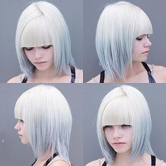 Gray and blonde hair free hair color pictures) Grey Ombre Hair, Blue Hair, Silver Ombre, Silver Hair, Periwinkle Hair, White Ombre, Pink Hair, Diana, Hair Color Pictures