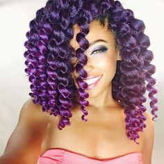 Crochet Braids Purple : Love her purple crochet braids! @joyvivre - http://community ...