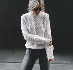 Happily Grey | SUBTLE | http://www.happilygrey.com I love this so much! wishing I could pull off grey jeans right now