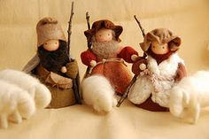 Oh! I am in love with these little shepherds & their flock . . . does anyone know how to find them/make them?? This website does not have them.