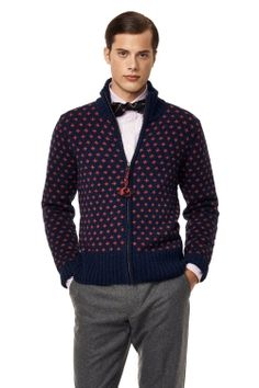 The Snowflake Chunky Fullzip-GANT  Really feeling the bow tie