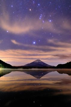 The World Heritage, Mt. Fuji, Japan. See the great warrior O'Ryan in the sky above.