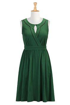 Keyhole cotton knit dress, $80