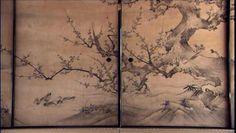 聚光院 襖絵 梅 (国宝)kyoto