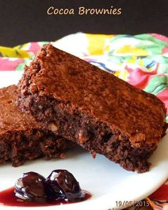 Τηγανιά λαχανικών με κουρκουμά... ο καλύτερος μπυρομεζές | Tante Kiki Cocoa Brownies, Sweet, Desserts, Food, Instagram, Dessert Ideas, Candy, Tailgate Desserts, Deserts