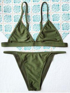 Green Bikini Set, Sexy Bikini, Bikini 2018, Bikini Swimwear, Swimsuit, Army Green, Bikini Types, Tankini Top, Brazilian Bikini