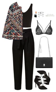 """Untitled #949"" by romane-inspiration ❤ liked on Polyvore featuring Exclusive for Intermix, Zara, Topshop, Akira, Yves Saint Laurent and MAC Cosmetics"