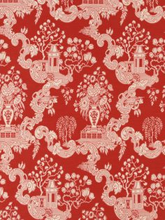Robert Allen fabric Big Spring in Lacquer Red