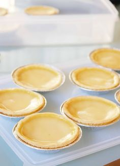 Chinese egg tarts, so you can have Dim Sum at home!