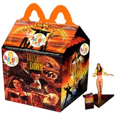Newt Clements has envisioned what it would be like if our favourite cult movies, TV shows and video games just happened to find themselves as the next McDonald's kids meal promotion. Cult Movies, Horror Movies, Funny Horror, Mcdonalds Kids, Happy Meal Box, Ghost Movies, Scary Movies, Slasher Movies, Dusk Till Dawn