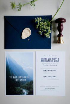 Cool wedding invitations by De Liefdesfabriek