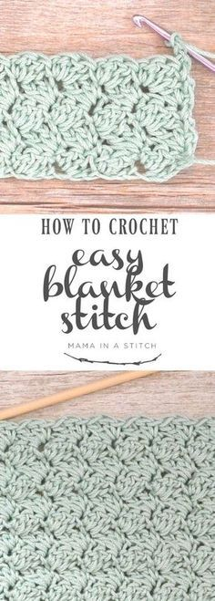 How To Crochet the Blanket Stitch via This is a super easy crochet stitch and there's a full, free pattern and video tutorial! patterns free blanket How To Crochet the Blanket Stitch Crochet Motifs, Crochet Stitches Patterns, Tunisian Crochet, Crochet Afghans, Baby Blanket Crochet, Crochet Pillow, Knitting Patterns, Knitting Ideas, Knitting Stitches