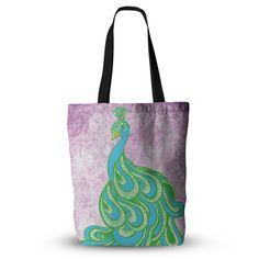 """Geordanna Cordero-Fields """"Beauty in Waiting"""" Green Pink Everything Tote Bag"""