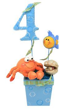 Centro de mesa para cumpleaños de 4 años / Decoración para fiestas infantiles