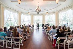 Lake Mary Events Wedding - Corner House Photography - Orlando Wedding Photographer- wooden floor wedding ceremony