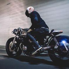 /// 1983 Honda CB750 & Rider