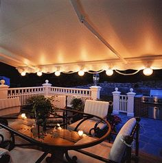 SunSetter Patio Awning Lights 6 Light Set Item # 857459 Rated (out of Awning Lights, Umbrella Lights, Patio String Lights, Patio Lanterns, Gazebo Lighting, Outdoor Lighting, Landscape Lighting, Lighting Ideas, Patio Ideas For Small Yards