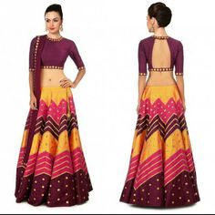 Checkout this Multi colored lehenga with embroidered blouse and dupatta. Size : Free Color : Multi color Fabric : Raw Silk Type : Embroidered Printed Occasion: Festive. Neck Type: Round Neck Sleeve Type: Half Sleeves  Sale Price : 2450 INR Only ! #Booknow  CASH ON DELIVERY Available In India !  World Wide Shipping !   For orders / enquiry  WhatsApp @ 91-9054562754 Or Inbox Us  Worldwide Shipping !  #SHOPNOW  #lahengacholi #onlineshopping #bridalwear #glamour #style #quallity…