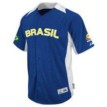 Brazil 2013 World Baseball Classic Authentic Road Jersey