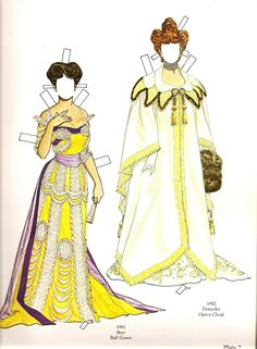 Great Fashions of the Belle Époque: Doll 1  (7 of 16) by Tom Tierney, Dover Publications  | Gabi's Paper Dolls