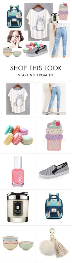 """となりのトトロ"" by lysianna ❤ liked on Polyvore featuring Essie, Jo Malone, Doughnut, Denby and Juicy Couture"