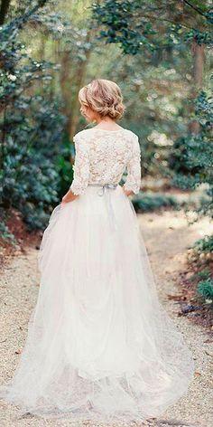 Chic Long Sleeve Wedding Dresses ❤️ See more: http://www.weddingforward.com/long-sleeve-wedding-dresses/ #weddings