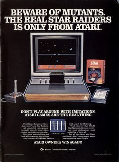 Star Raiders, a space shooter game, with a keypad-control for the Atari 2600 VCS.