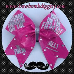 Cheer quote cheerleading bow by BowBombDiggity on Etsy, $13.00