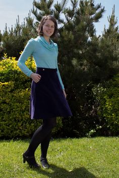 Making It Well: Completed: Sewaholic Hollyburn and bonus Renfrew Mod Mod Girl, Top Pattern, Knitted Fabric, Ready To Wear, Long Sleeve, Skirts, Sleeves, How To Wear, Anne Shirley