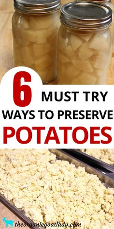 How to Preserve Potatoes, Preserving Food, How to Preserve Food, Preserving Vegetables, Self Sufficiency Dehydrate Potatoes, Canning Sweet Potatoes, Healthy Potatoes, Fermented Foods, Freezing Potatoes, Frozen Potatoes, Dried Potatoes, Crockpot, Essen