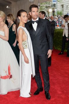 Maggie Q and Dylan McDermott at the 2015 Met Gala